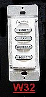 ceiling fans remote contols - wall switch  W32