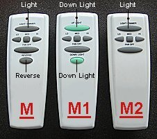 ceiling fan remote controls uc7078T
